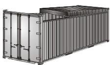 Open Top 20 Container